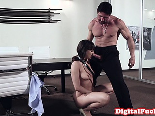 Glamorous dutiful gets trained apart from dom