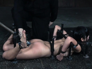 Cute asian sub gets her pussy toyed by master
