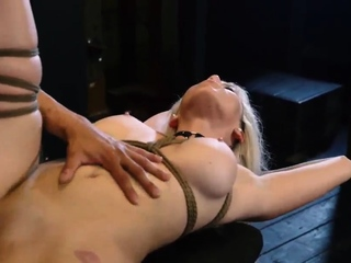 Public orgasm bdsm first time Big-breasted light-haired
