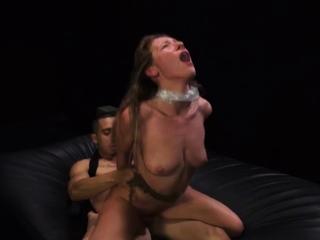 Bondage key and big tits threesome rough sex Poor Callie
