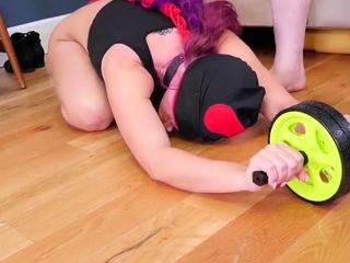 Teen girl masturbation orgasm compilation Ass-Slave Yoga