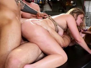 Hot bound sluts gangbanged in mix