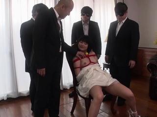 JAVHUB Mari Koizumi bound and fucked by multiple men