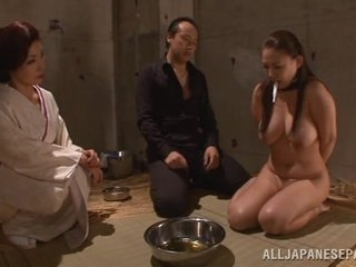 Chubby boobed Japanese AV incise plays waiting upon with the addition of gives a hot headfuck