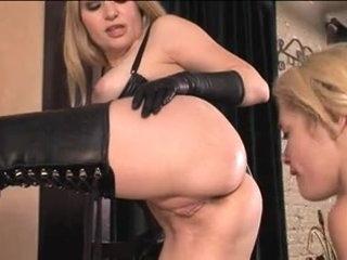 Profligate dominas agony their womanlike slaves