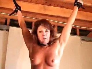 Stunning homemade BDSM, Blowjob xxx film over