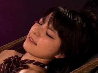 Bosomy Asian sweeping involving slavery gets fingered coupled with dildoed