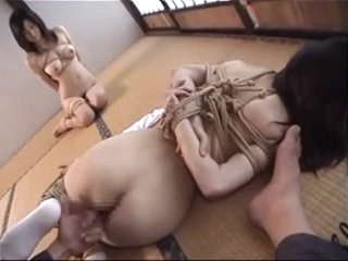 Japanese kinbaku enjoyment from