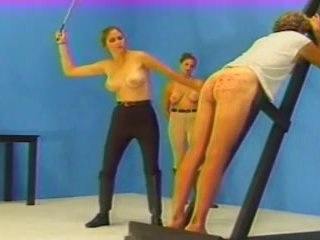 Caned hard by twosome mistresses depending on he bleeds